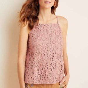 Sunday in Brooklyn Blanche Lace Tank Pink Mauve XS